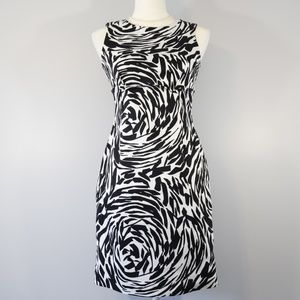 Calvin Klein Animal Print Career Dress - 4 Petite